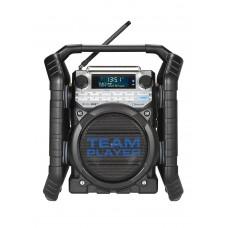 TEAMPLAYER ZWART DAB+ - FM RDS - BLUETOOTH - AUX-IN - OPLAADBAAR (EXCL