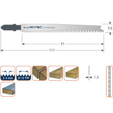 DECOUPEERZAGEN DC140 / T234X(VPE 5 STUKS)