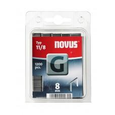 NOVUS VLAKDRAAD NIETEN G 11 8MM DOOS 1200 ST