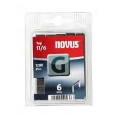 NOVUS VLAKDRAAD NIETEN G 11 6MM DOOS 1200 ST