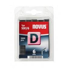 NOVUS VLAKDRAAD NIETEN D 53F 6MM DOOS 1200 ST