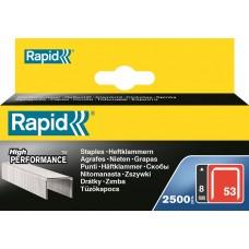 RAPID NIETEN 53/12 MM GEGALVANISEERD 2.500 ST., BOX