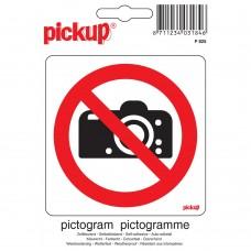 PICTOGRAM 10X10CM VERBODEN TE FOTOGRAFEREN
