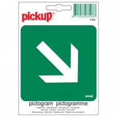 PICTOGRAM 10X10CM VLUCHTWEG SCHUIN