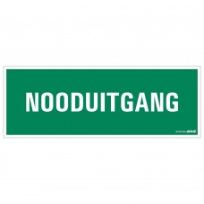 BORD 33X12CM NOODUITGANG