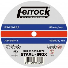DOORSLIJP.FERROCK 125X1.0 INOX