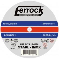 DOORSLIJP.FERROCK MET. 125X2.5