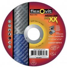 DOORSLIJPSCHIJF VLAK MAXX INOX ZA60Y 125X1X22,23 T41