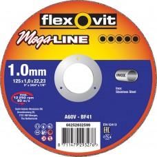 DOORSLIJPSCHIJF VLAK MEGA-LINE INOX A46V 125X1,6X22,23 T41